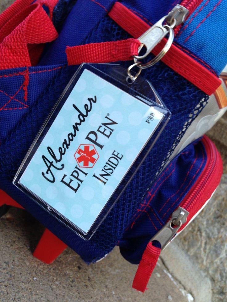 Epi Pen Allergy Alert Acrylic Bag Tag