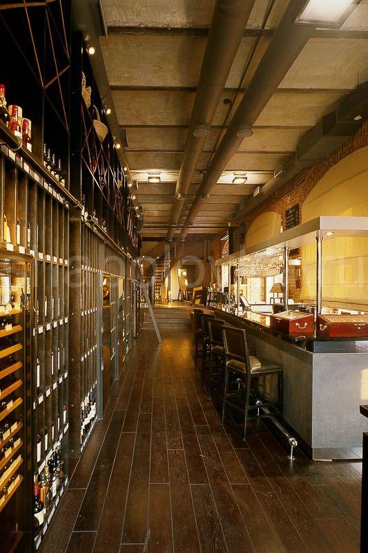 винотека интерьер в стиле лофт / loft interior design Архитектурное бюро Шаболовка