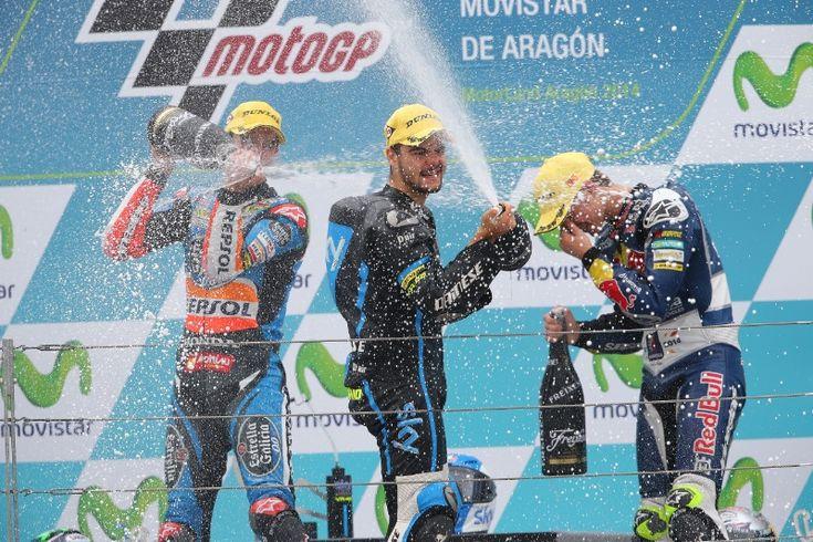 Alex Marquez, Fenati, Kent, Moto3 race, Aragon MotoGP 2014