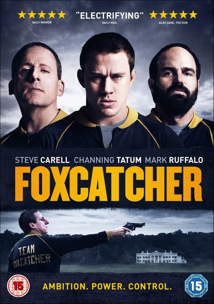 "Foxcatcher (2014) directed by Bennett Miller, starring Steve Carell, Channing Tatum and Mark Ruffalo. ""The greatest Olympic Wrestling Champion brother team joins Team Foxcatcher led by multimillionaire sponsor John E. du Pont as they train for the 1988 games in Seoul - a union that leads to unlikely circumstances."""