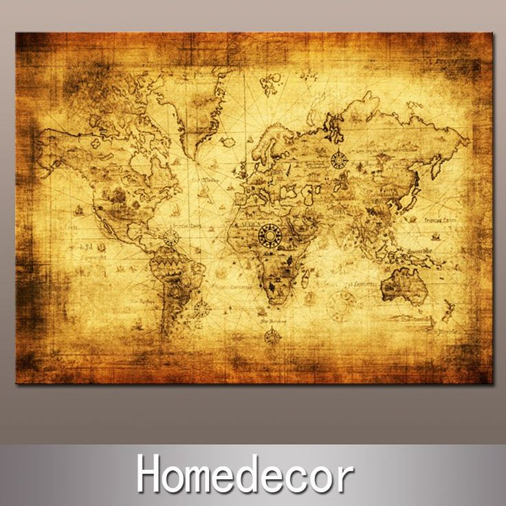 65 best old world map images on pinterest maps worldmap and huge ancient nautical sailing world map painting oil modern painting printing canvas no frame home gumiabroncs Gallery