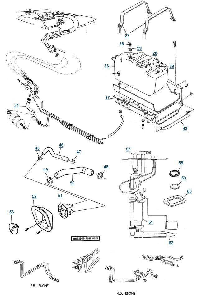 jeep wrangler parts schematics