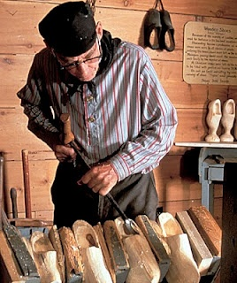 An interesting story on the making of wooden shoes--also done by German craftsman. One of whom is featured in THE QUILTED HEART novellas and PRAIRIE SONG.