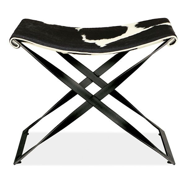 Karr Stool in Cowhide - Upholstered Tables - Benches & Stools - Living - Room & Board