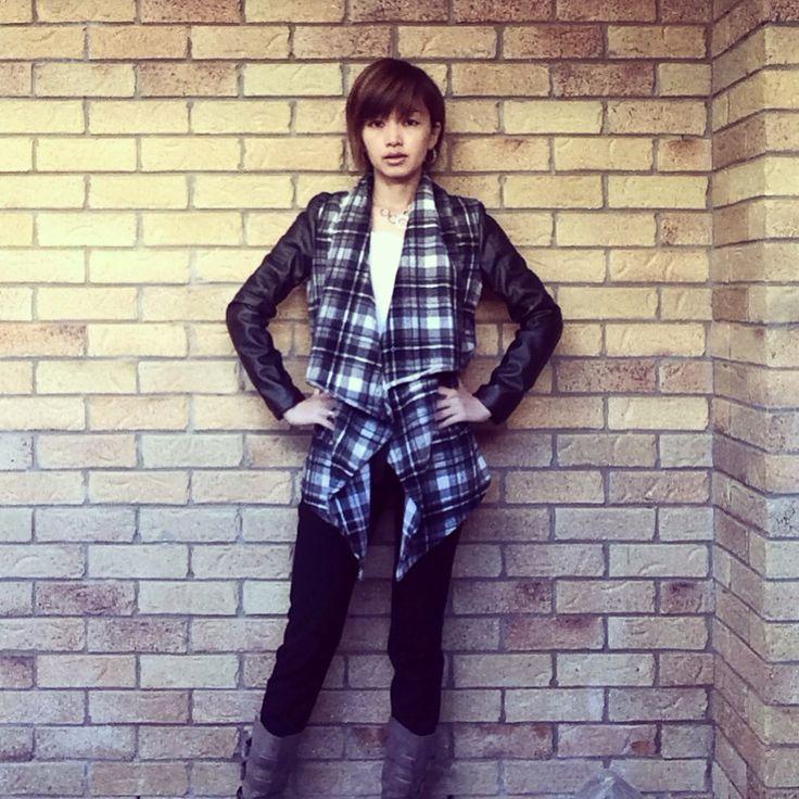 Today's look ❤️ | jacket @ Material World | necklace @swarovski | #monochromemonday #ootd #winterlook #winterstyle #waterfalljacket #fashionandfeline #statementjacket #asianfashionmodel #corporatestyle #corporatefashion #corporatechic #workfashion #lookoftheday #fashiongram #时装 #おしゃれ #fashioninspo #workwear #australianfashionblogger #whatiwore #styleinspo #lookbook #fashionphotography #corporatewear #everydaystyle