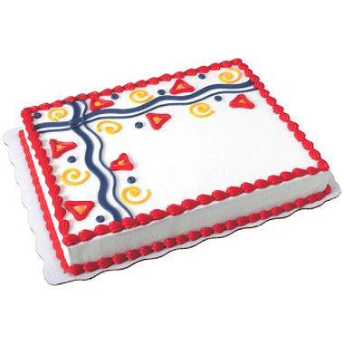 1/2 Blatt verzierter Buttercremekuchen – Sam's Club (wir haben weiß und …   – Cakes for fun!