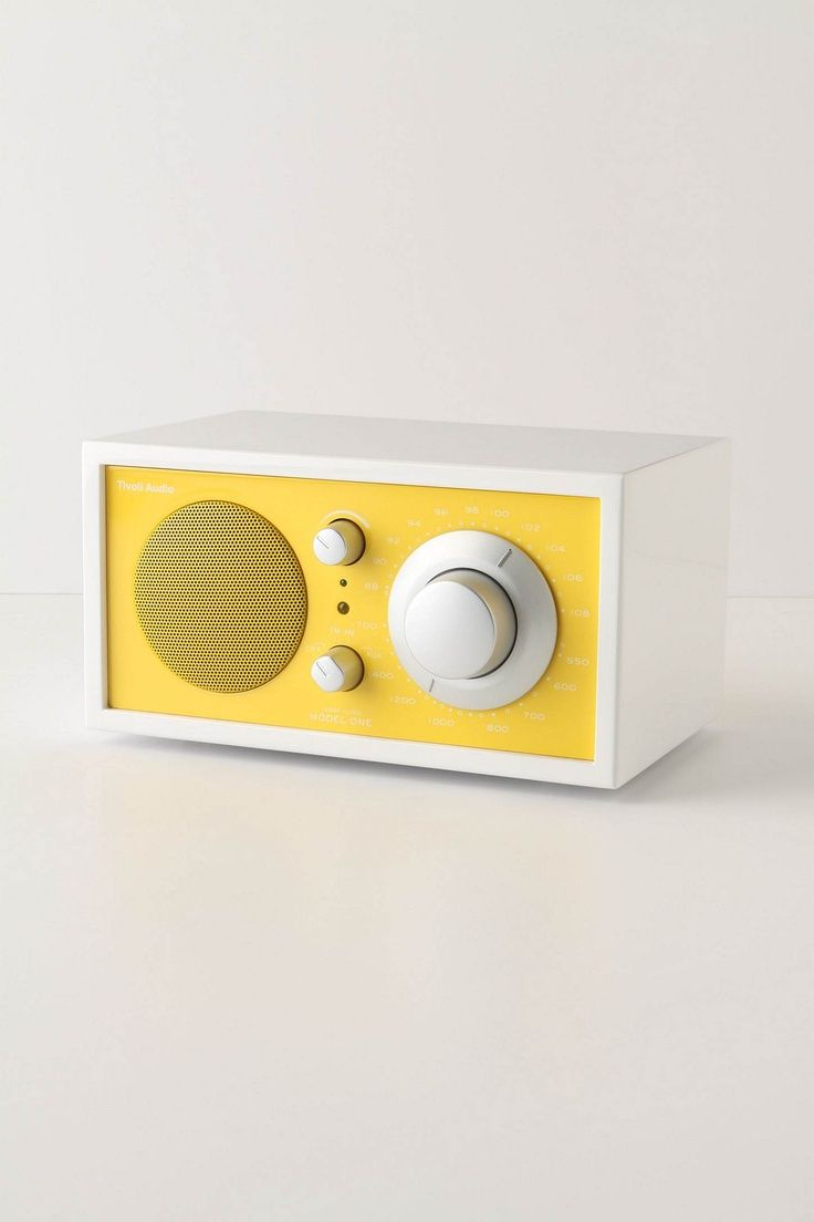 Radio Frost White Collection Model One - Yellow by Tivoli Audio #radio #design