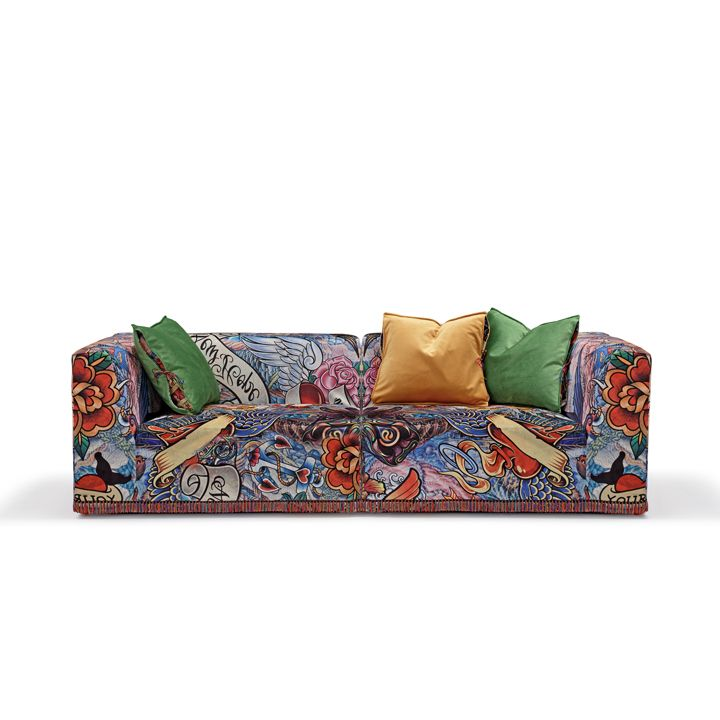 TATTOO sofa #artyfurniture #modularsofa #tattoosofa #tattoo #crazypattern