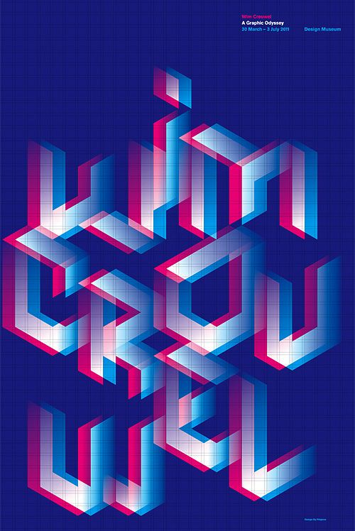 Wim Crouwel A Graphic Odyssey poster, Design By Pidgeon