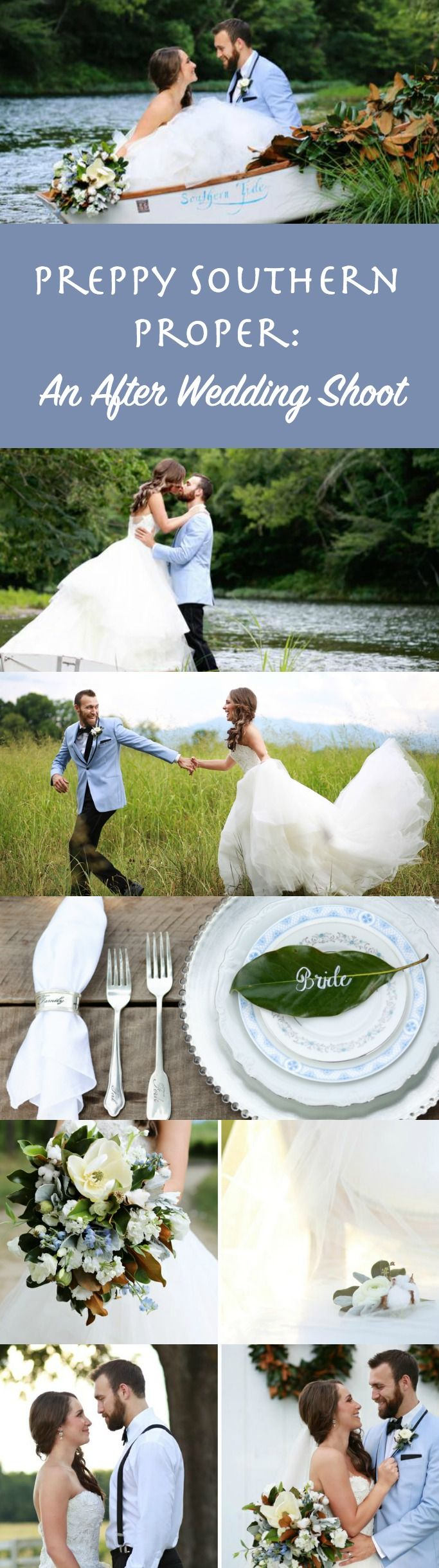 Preppy Southern Proper: An After Wedding Shoot | Sweet & Beautiful Wedding Theme Ideas. - Inspired Bride