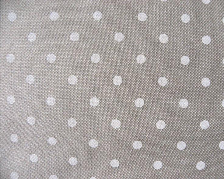 Spanyol lakástextil, bútorvászon natúr-fehér | Textilpont Lakástextil Webáruház