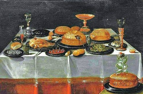 Unknown flemish 17th century still life with pies food history pies pinterest still - 17th century french cuisine ...