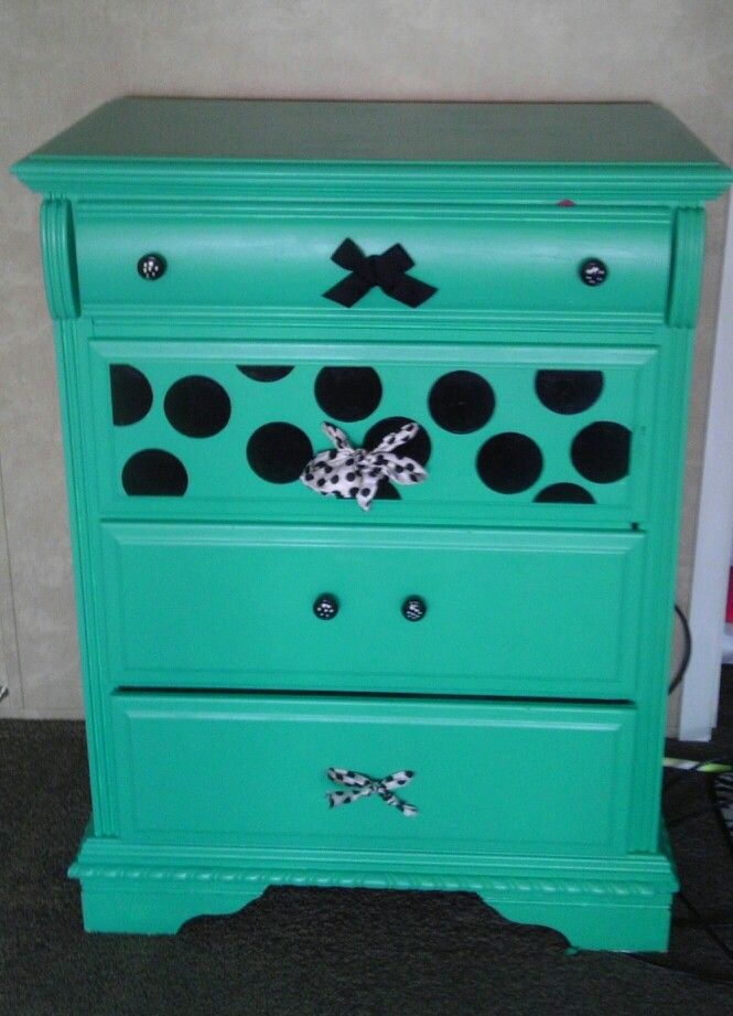 Old dresser redo for my pre teen