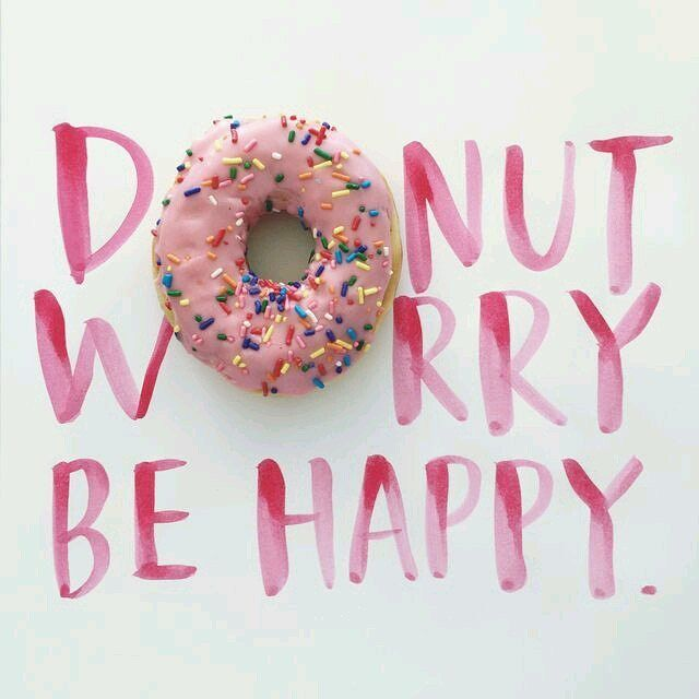 In every situation there is always a bright and more tasteful side    #donut #worry #positivevibes #happy #summer2017