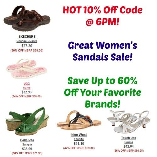 WOW! Get an additional 10% off at 6PM today! Save up to 65% off designer and brand name shoes, clothing and more! I am loving the HOT deals on women's sandals!   Click the link below to get all of the details ► http://www.thecouponingcouple.com/10-off-6pm-cheap-womens-sandals/  #Coupons #Couponing #CouponCommunity  Visit us at http://www.thecouponingcouple.com for more great posts!