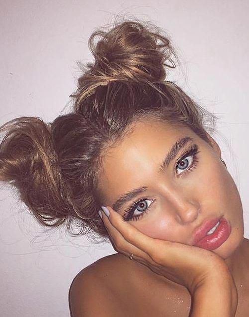 34 Space Buns You Can Easily Copy - How to Make Space Buns Tutorial - With Hairstyle #Braidedbun