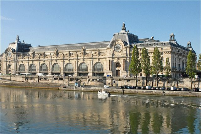 The Musée d'Orsay is a museum in Paris, France, on the left bank of the Seine. It is housed in the former Gare d'Orsay, an impressive Beaux-Arts railway station built between 1898 and 1900.