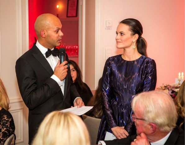 On November 18, 2016, Princess Sofia attended a dinner in Stockholm, where there is an auction for the benefit of Project Playground.