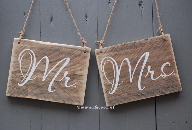 tekstplankje Mr en Mrs