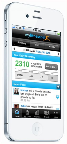 Calorie Counter & Diet Tracker by MyFitnessPal (iPad & iPhone) - Best diet tracking app. Ever. Track calories (over 1 million foods!) and fitness goals. Free. #apps #iphone #ipad