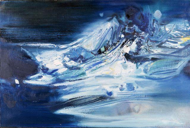 Les bleus de Chu Teh-Chun exposés à Marseille