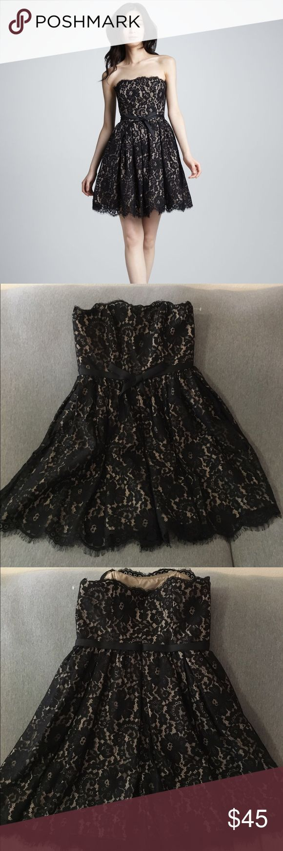 NWOT Robert Rodriguez Newman Marcus dress Gorgeous, never worn dress ready for your next party! Classic black lace design with a sweet bow around the waste. Available in size 6 and 8. Bundle and save! Open to offers too. Neiman Marcus Dresses Strapless