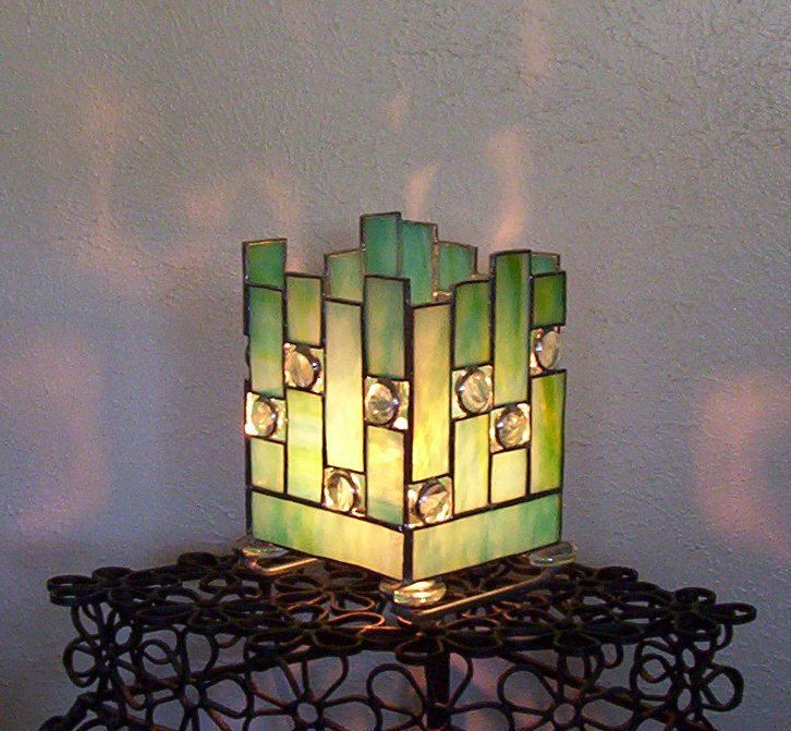 Stained Glass Lamp...Can I DIY with glass from photo frames and coloring pages?? ~APRIL~