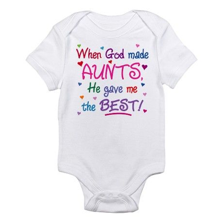 105 best niece and aunt stuff images on pinterest t shirts tee god gave me the best aunt snap body shirt baby light bodysuit body suitspersonalized giftsbaby negle Gallery