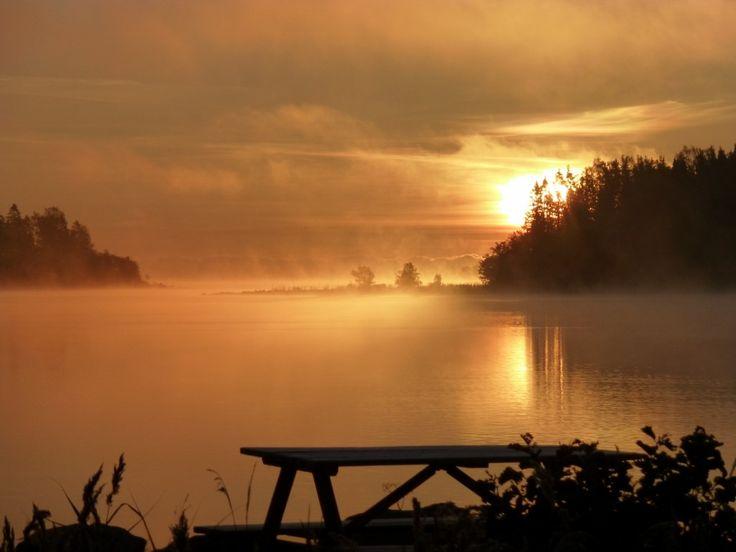 Tidig morgon i Vålnäsberget  Trödje