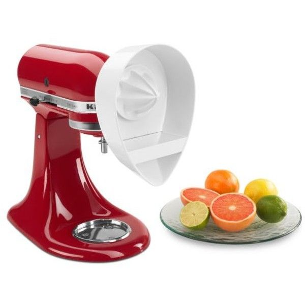 Kitchenaid  Citrus Juicer Attachment Je Style #100588129 ($25) ❤ liked on Polyvore featuring home, kitchen & dining, small appliances, white, kitchenaid standmixer, citrus fruit juicer, kitchenaid, kitchenaid small appliances and citrus juice extractor