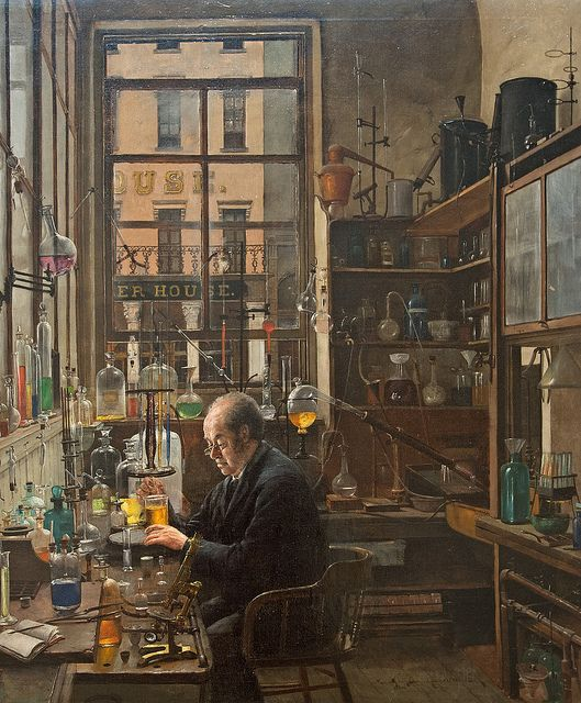 In the Laboratory Henry Alexander (1860–1894) Date- ca. 1885–87. MET, NYC by renzodionigi, via Flickr