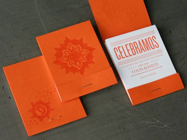 Orange and white matchbook wedding invitations nn xmas for Matchbook business cards