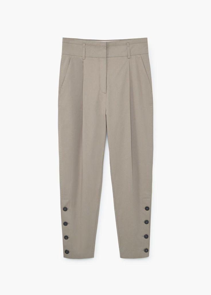Pantalon boutonné sur les côtés | MANGO