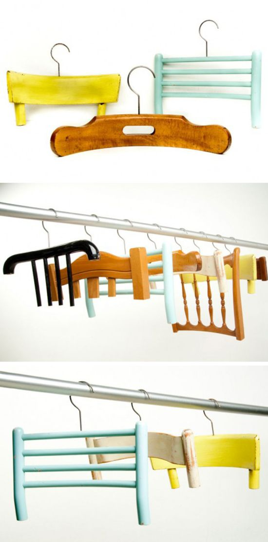 awesome hangers - especially for those of you who like to hand their clothes on the backs of chairs.  :)