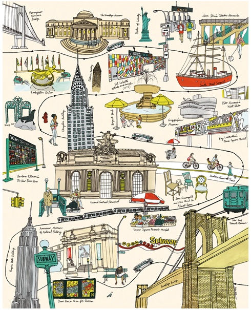 http://juliarothman.com/ #illustration #line #drawing #landmarks