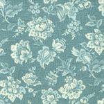 Makower Fabric: Vintage, Large floral, duck egg (per 1/4 metre)