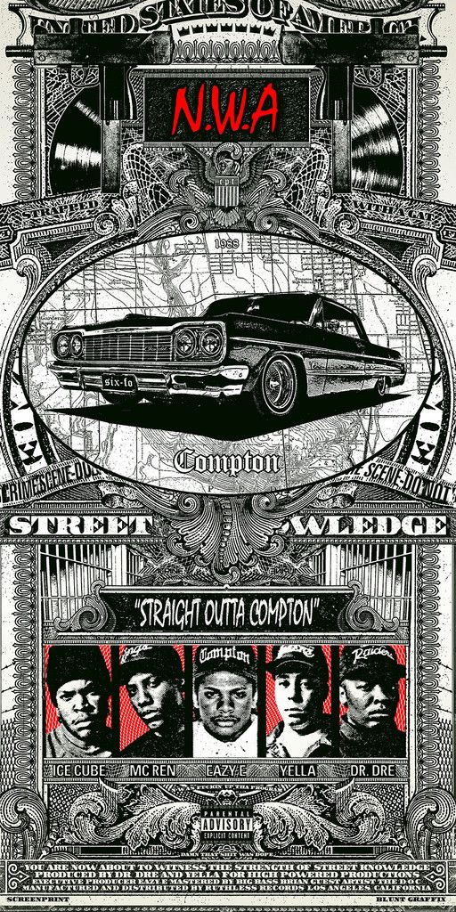 Straight Outta Compton / N.W.A. by Blunt Graffix