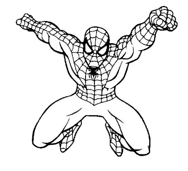 ausmalbilder spiderman zum ausdrucken  superhelden