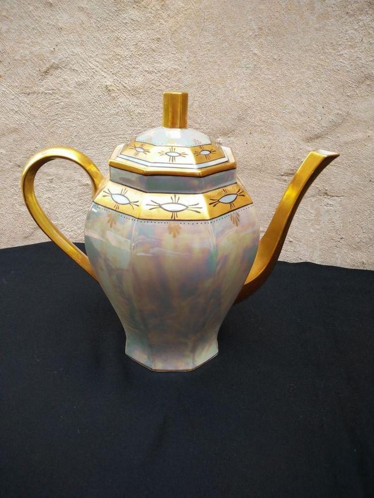cafetière ancienne porcelaine Limoges ART DECO