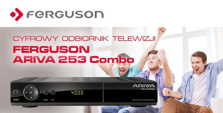 Ferguson Ariva 253 Combo jest najbardziej zaawansowanym centrum telewizyjnej rozrywki dostępnym na rynku. Odbiornik oferuje dostęp do kodowanej i darmowej telewizji satelitarnej w standardzie DVB-S/S2 oraz telewizji kablowej w standardzie DVB-C lub naziemnej telewizji cyfrowej nadawanej w standardzie DVB-T/T2.
