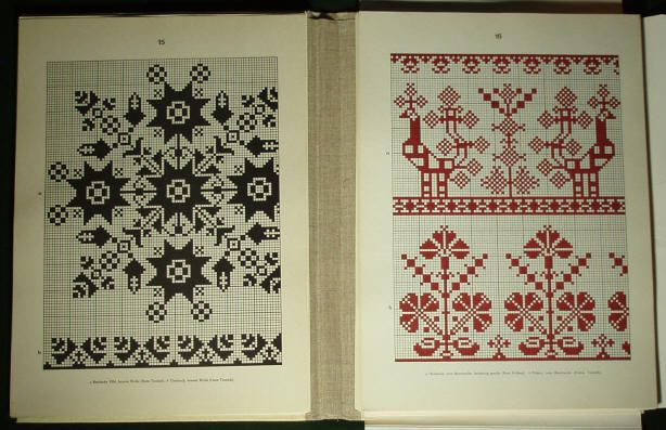 Romanian folk embroidery pattern - Saxon costume linen.