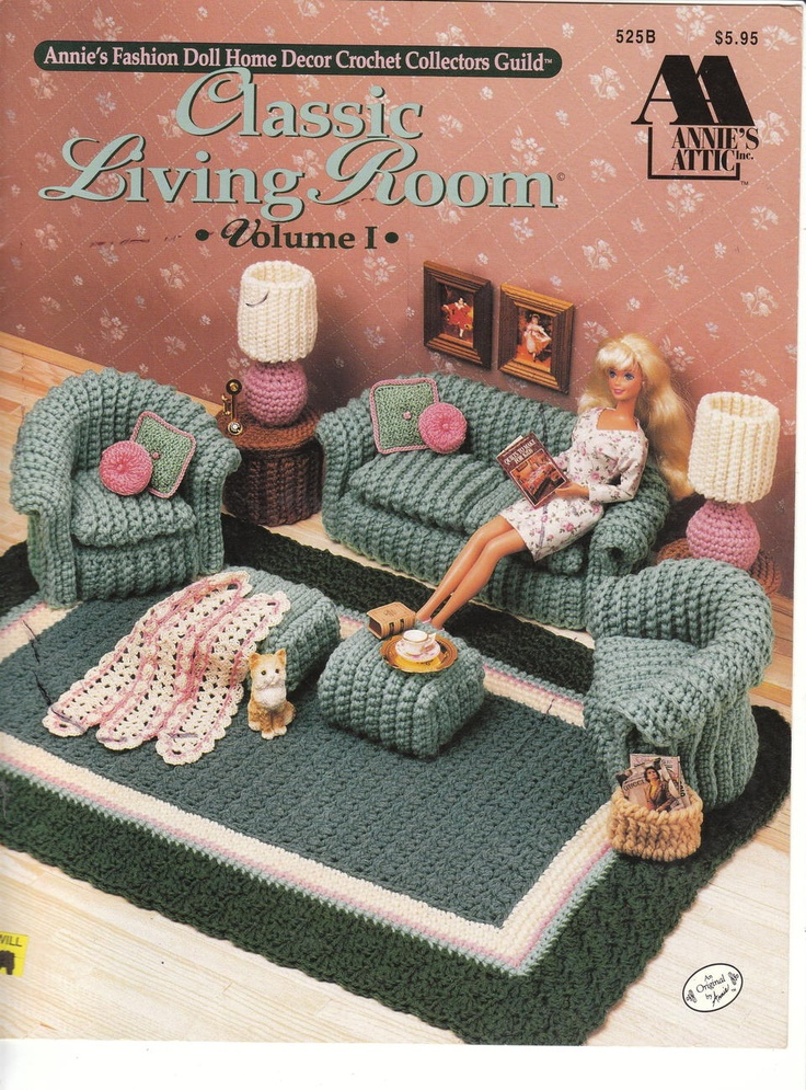Image detail for -Doll Home Furnishings II Crochet Patterns Living Room OOP Barbie ...