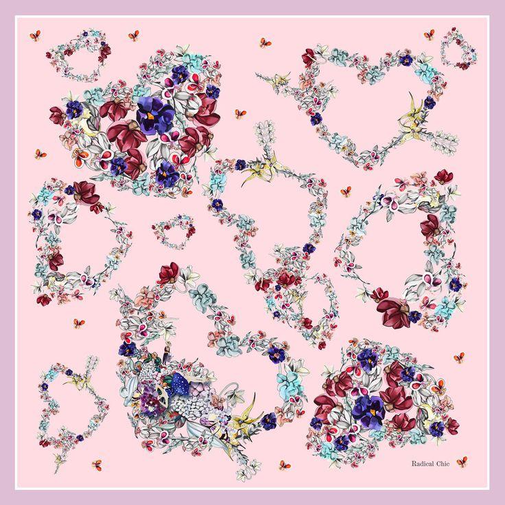 Серия платков о любви Radical Chic #textilepattern, #textiledesign, #fabricdesign, #textiledesignpattern, #fabricsdesign, #premierevision, #дизайнткани, #текстильныйдизайн, #дизайнтекстиля, #паттерн, #рисунокткани,