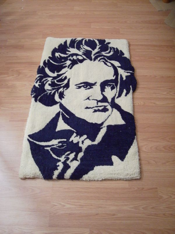 Hand made all wool Beethoven rug by KOVRIC RUGS at www.customrugfabrication.com