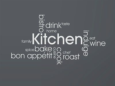 MODERN KITCHEN WALL QUOTES - VINYL ART STICKERS DECALS | eBay