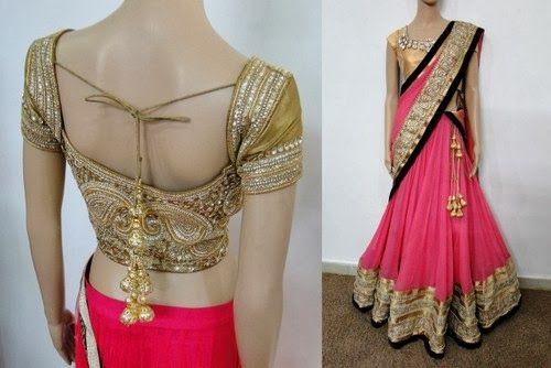 Half Saree by Varuna Jithesh | Saree Blouse Patterns