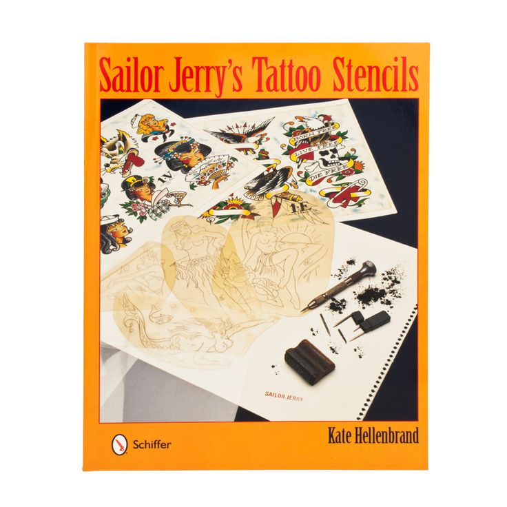 Sailor Jerry's Tattoo Stencils - Paper Back By Kate Hellenbrand
