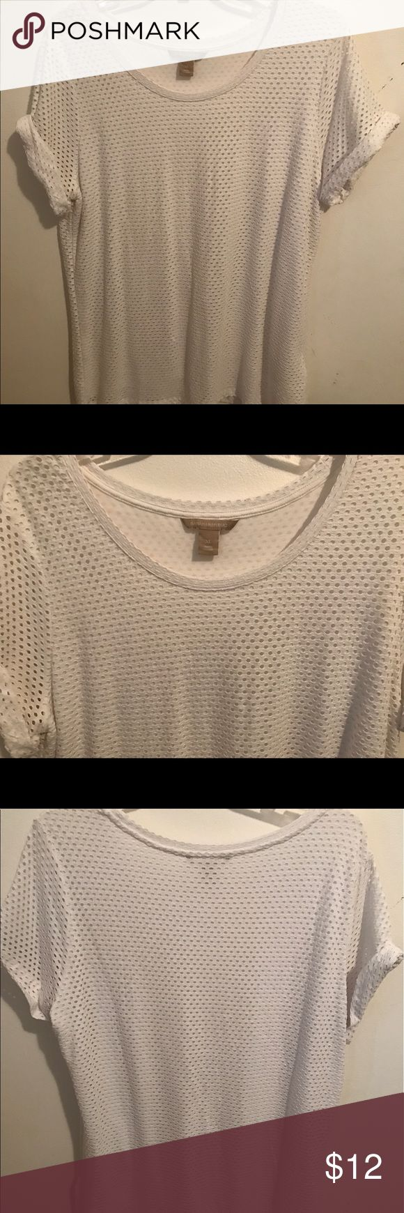 Banana Republic white tshirt size XL Banana Republic white lined tshirt size XL, only worn once Banana Republic Tops Tees - Short Sleeve