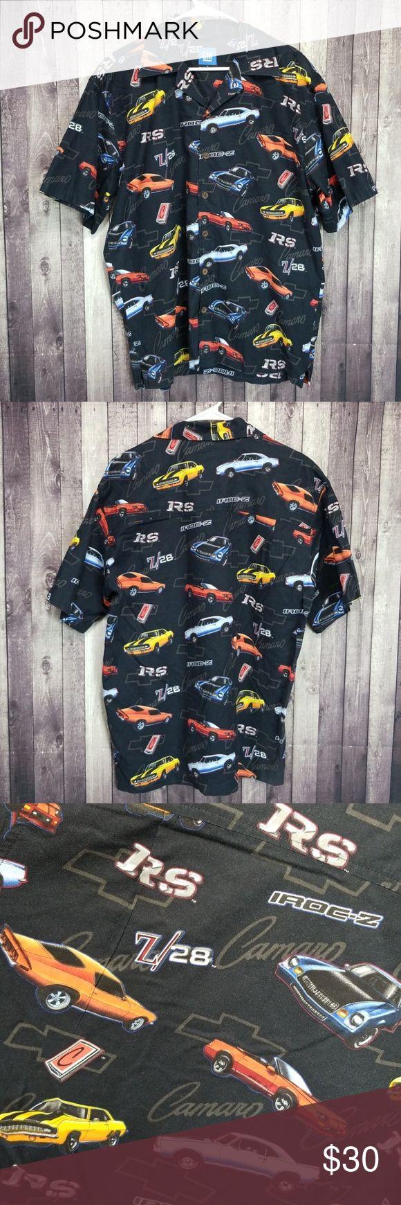 GM by David Carey Chevy Camaro button down shirt GM by