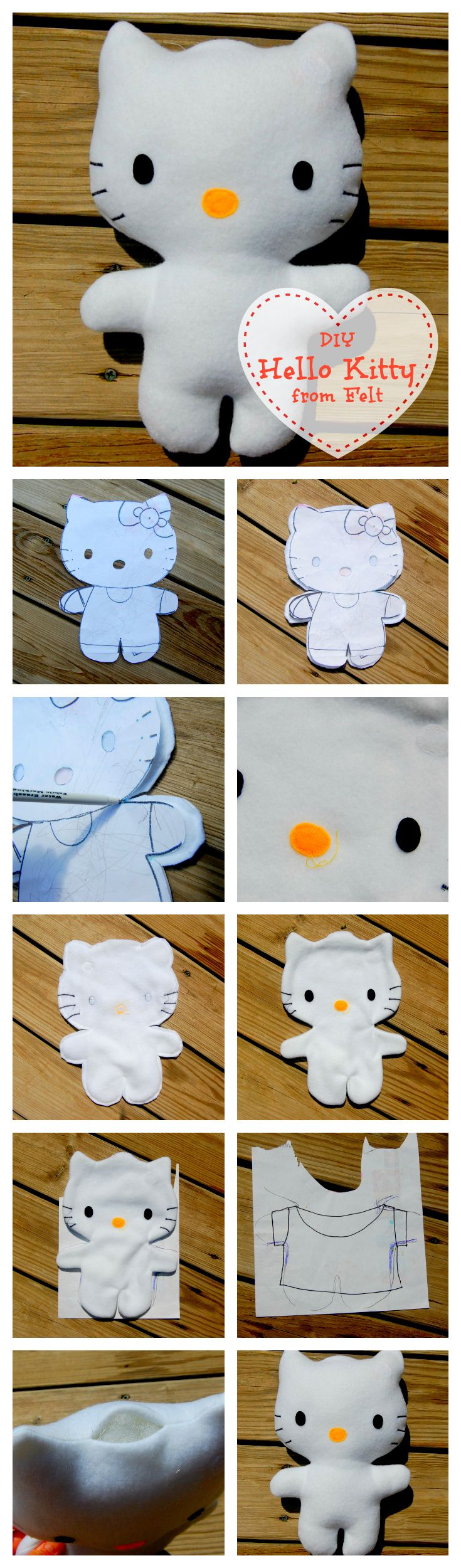 DIY Hello Kitty from Felt